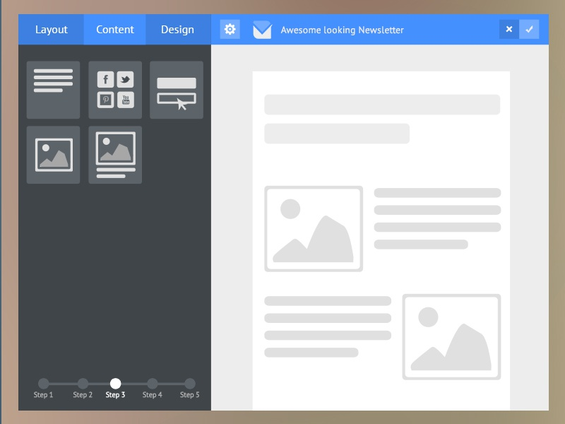 Flat Email Template Builder
