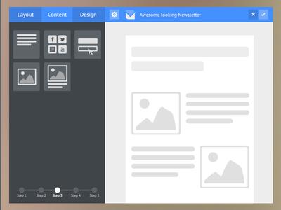 flat email template builder by farhan razak dribbble. Black Bedroom Furniture Sets. Home Design Ideas