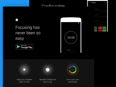 Fotrack - Landing page fotrack pomodoro technique technique tech time tracking time app android ios productivity black pomodoro