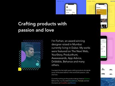 Portfolio - Farhan Razak portfolio design product ux ui case study lp web design website site portfolio