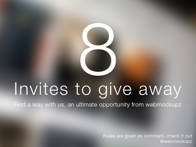 8 Dribbble Invites to give away