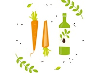 Carrots and olive oil