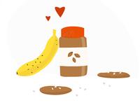 Banana love peanut butter