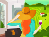 Ilustration for Wine & Style magazine cover - EuroCave brand