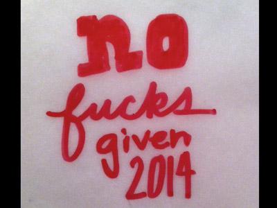 No effs given