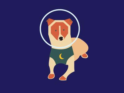 Laika Space Dog dog space laika flat