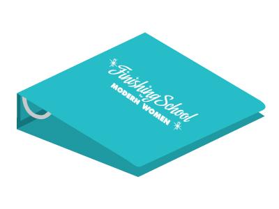 Modern Woman Notebook  trapper keeper binder notebook