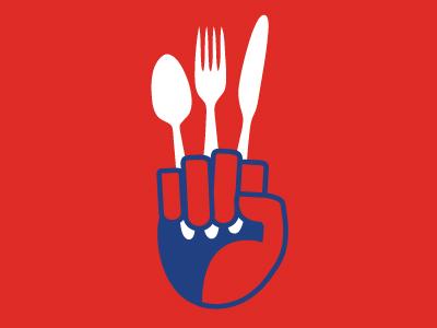Food War food war war flat food silverware