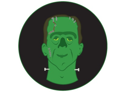 Frank Shows Face nice guy frankenstein halloween monster green frank