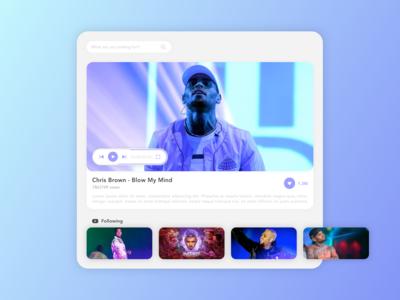 Clean video player - Concept youtube player video idea concept gradient ux ui design app