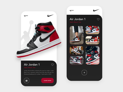 Collaborative gallery - Concept sneakers nike social gallery idea concept branding gradient ux ui design app