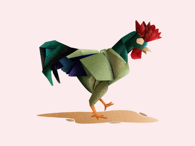 The Rooster. rooster aviary illustration bird