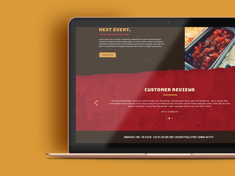 Chicken Hut Website photoshop webdesign web design web website logo branding graphic design