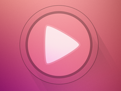 Play button play round shadow ios7 music sound shapes audio play button