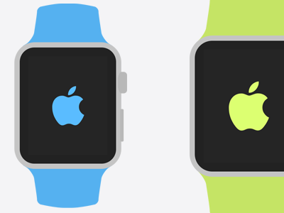Apple Watch Flat Templates apple watch ui design flat template psd photoshop