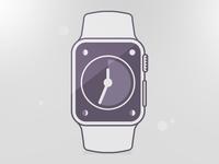 Apple Watch Line Art