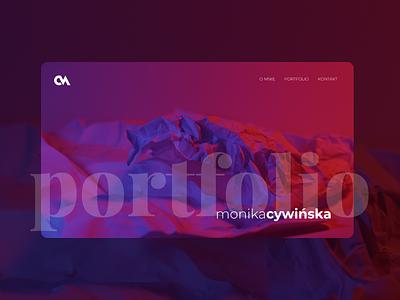 Monika Cywińska website portfolio portfolio webdesign typography web branding ui design