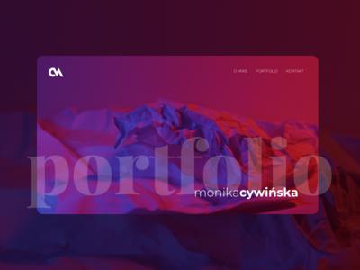 Monika Cywińska website portfolio