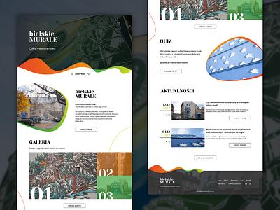 Urban murals website design homepage ui design website design web typography ui design