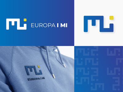 Logo Design for Association 'Europa i mi' european union association europe identity design minimal logo