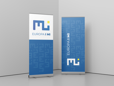 Banner for Association 'Europa i mi' logo branding design rollup banner