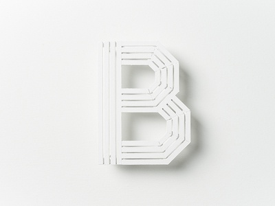 Bench bench white typography photography handmade b letterform analog the b project white on white