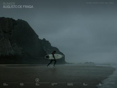 Bunker web layout interactive akzidenz grotesk