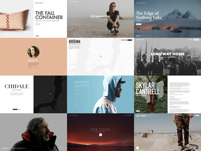 Cover Pages squarespace web interactive product layout