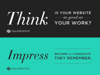 Squarespace ads for Linkedin