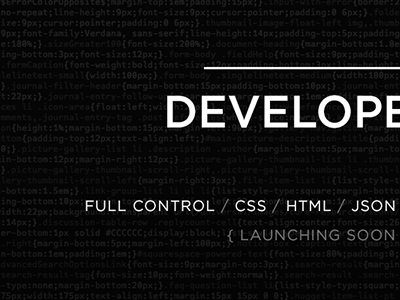 Developers page dribbble