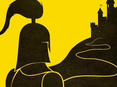 Knight illustration book cover knight castle