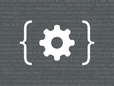 Dev dev developer gear verlag code u00007b u00007d curly bracket icon squarespace