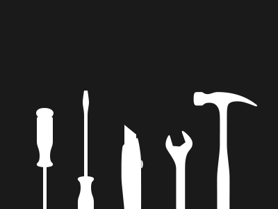 Tools illustration icons tools hammer wrench screwdriver squarespace utility knife