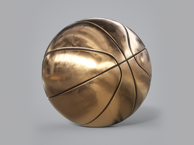 Hello Dribbble. gold minimal c4d cinema 4d 3d