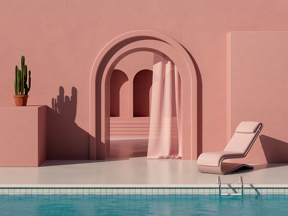 Summer In Spain - Series design digitalart minimal cinema 4d 3d illustration