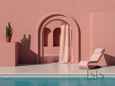 Summer In Spain - Series design digitalart minimal cinema 4d 3d illustration