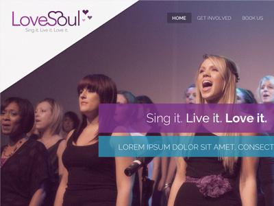 Love Soul Choir design website choir