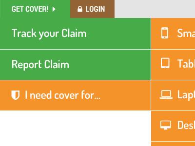 Multi-Level Mobile Inspired Menu sub items desktop responsive navigation menu