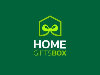 Home Gift Box Logo Concept concept logo box gift home