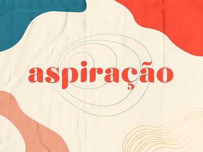 Aspiração - Logotipo type logo branding typography flat minimal adobe illustrator vector design illustration
