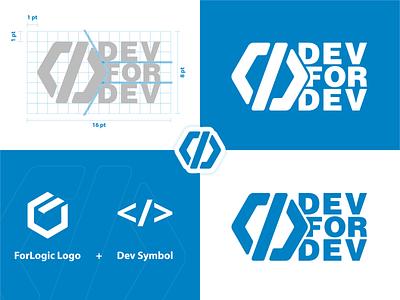 DevForDev web logo typography branding flat minimal adobe illustrator vector design illustration