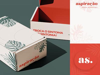 Aspiração - Embalagens de envio adobe illustrator minimal logo branding illustration packaging