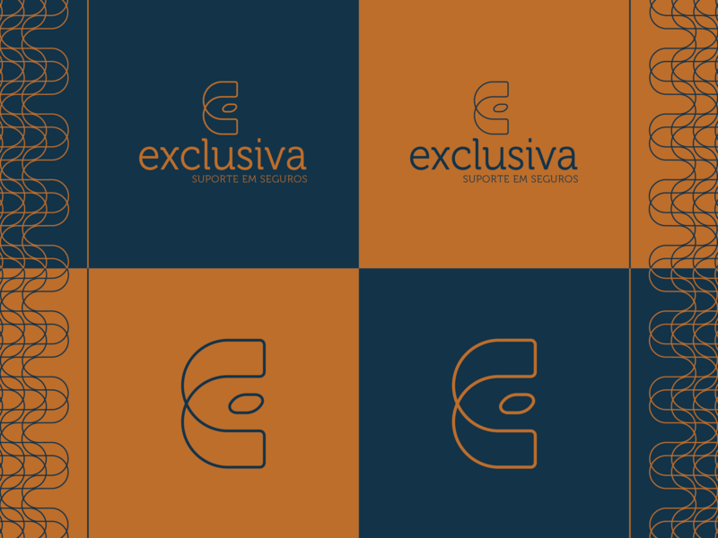 Exclusiva Logo branding vector logo typography illustration design