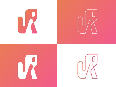 Já logo design flat typography adobe illustrator logo illustration negative space