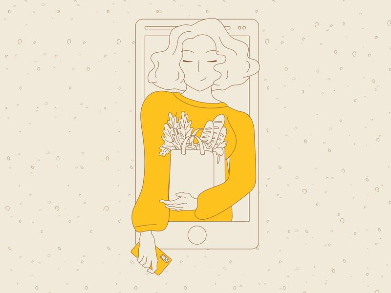 Lineart negative space website flat web adobe illustrator minimal vector design illustration