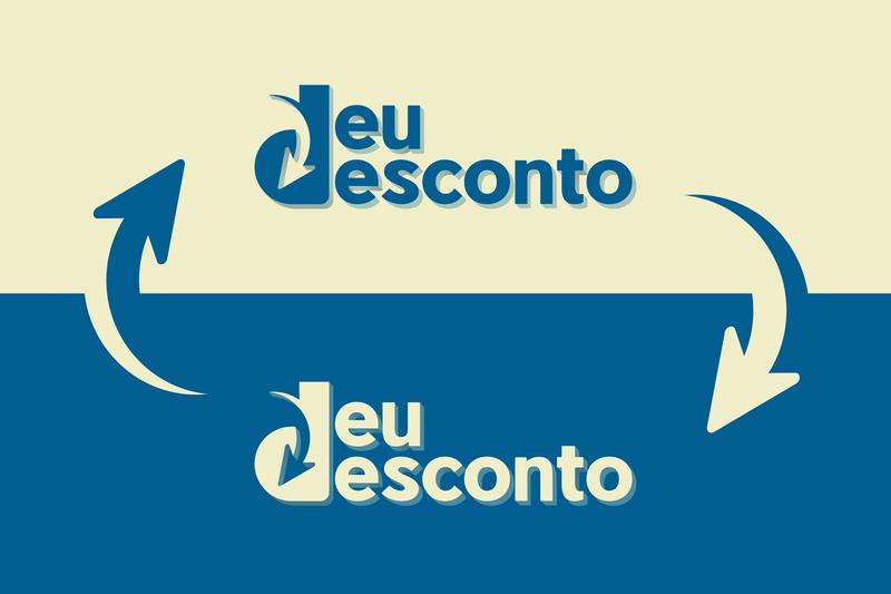 DeuDesconto Brand illustrator type icon logo branding website typography flat web adobe illustrator minimal design vector illustration
