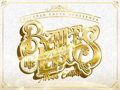 Baile dos Laços logo adobe illustrator design branding typography vector illustration lettering