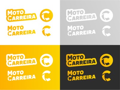 Moto Carreira typography design illustration minimal icon flat logo branding adobe illustrator vector