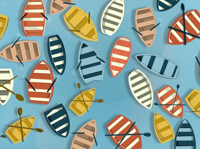 Boats illustration art digital illustrator summer sea drawing digital illustration digitalart digital procreate illustration