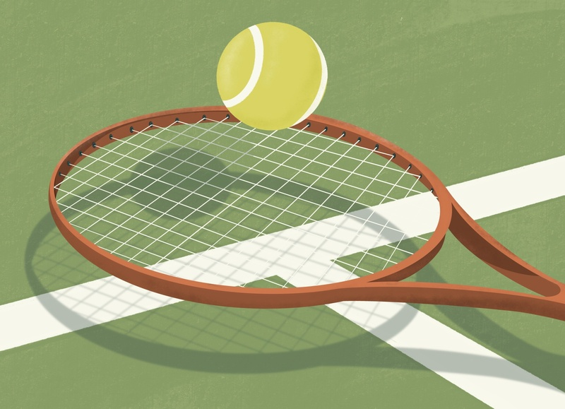 Ace! sports illustration sports design sports drawing vintage tennis digital illustrator digital illustration digitalart procreate illustration